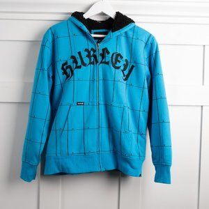 Hurley fleece lined hoodie sweatshirt size L
